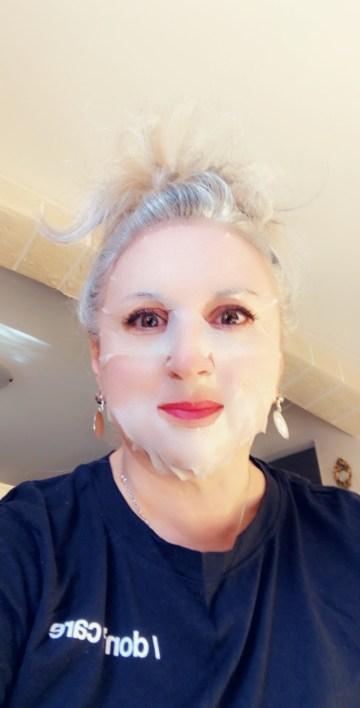 thedayAfter, beauty, makeup, quinqua, Beauté, silversisters, action, beautea, maskchallengeunecitadine, makeupgeek, silverhair, blogueusedusud, cheveuxgris, mask, masque, masque hydratant, top masque,