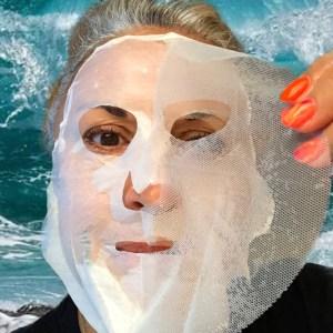 beauty, makeup, makeupgeek, maskchallengeunecitadine, masque, silverhair, mask, silversisters, unitouch, biocellulose, eau marine,