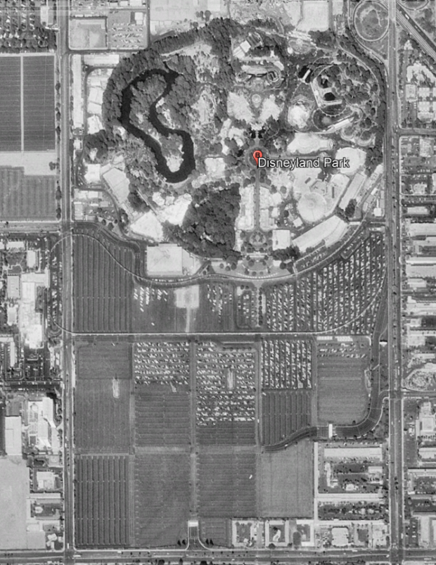 Proposed Site of westCOT in Disneyland Parking Lot