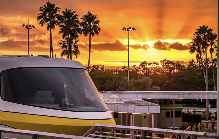 Monorail at Sunset