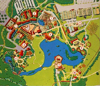 Disney America Overview Map