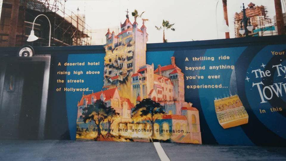Walls advertising the coming attraction