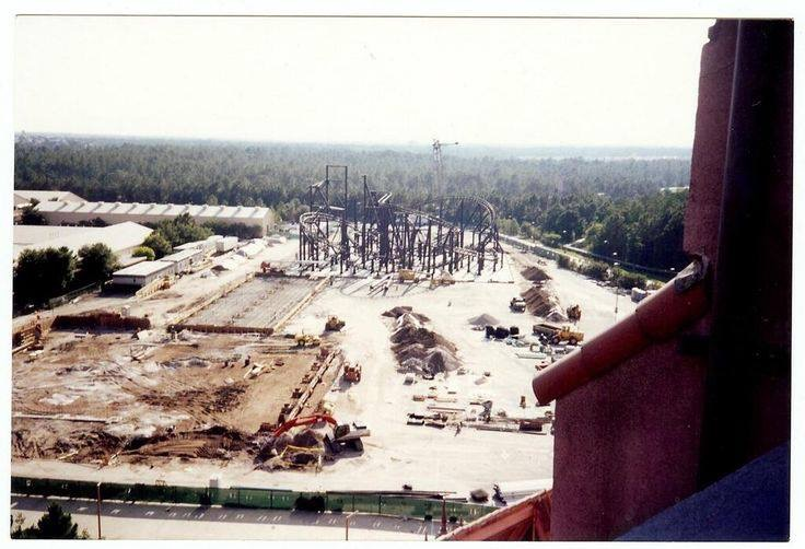 View from the top of rhe Tower of Terror of Rock 'n Rollercoaster Construction