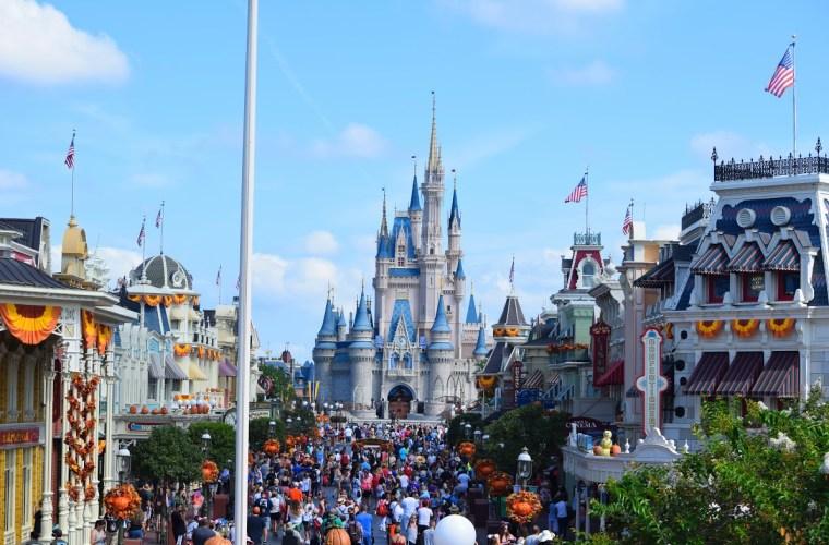 Cinderella Castle from Main Street Train Station