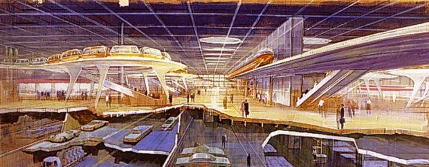 Epcot Concept Art Domed City