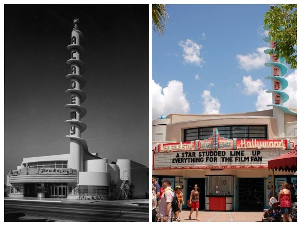 Collage of Academy Theatre and Legends of Hollywood
