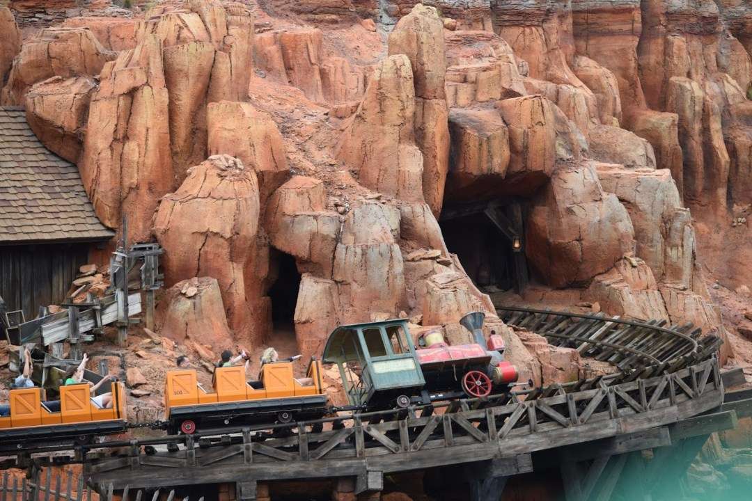Big Thunder Mountain Train from Liberty Belle Riverboat