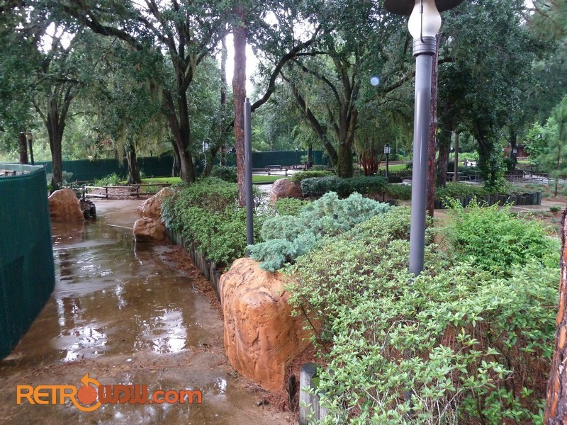 Fence around River Country