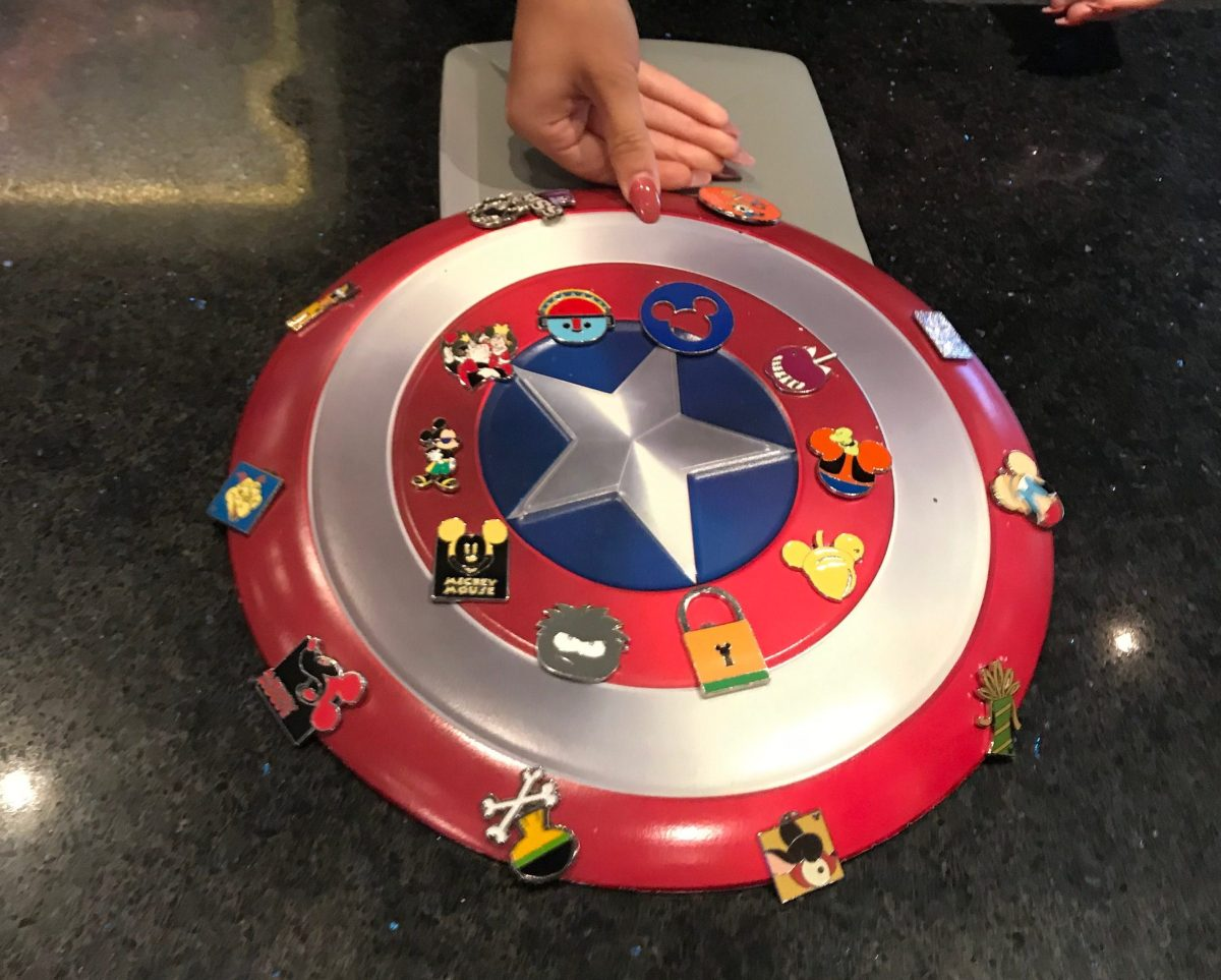 Captain America Pin Board at California Adventure