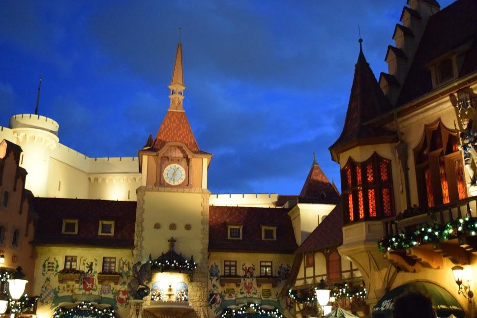 Germany Epcot at night