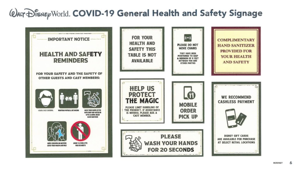 Signage disney covid 19
