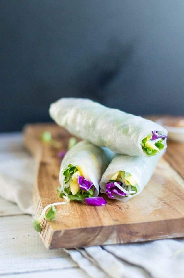 The Movement Menu - Vegetable Spring Rolls