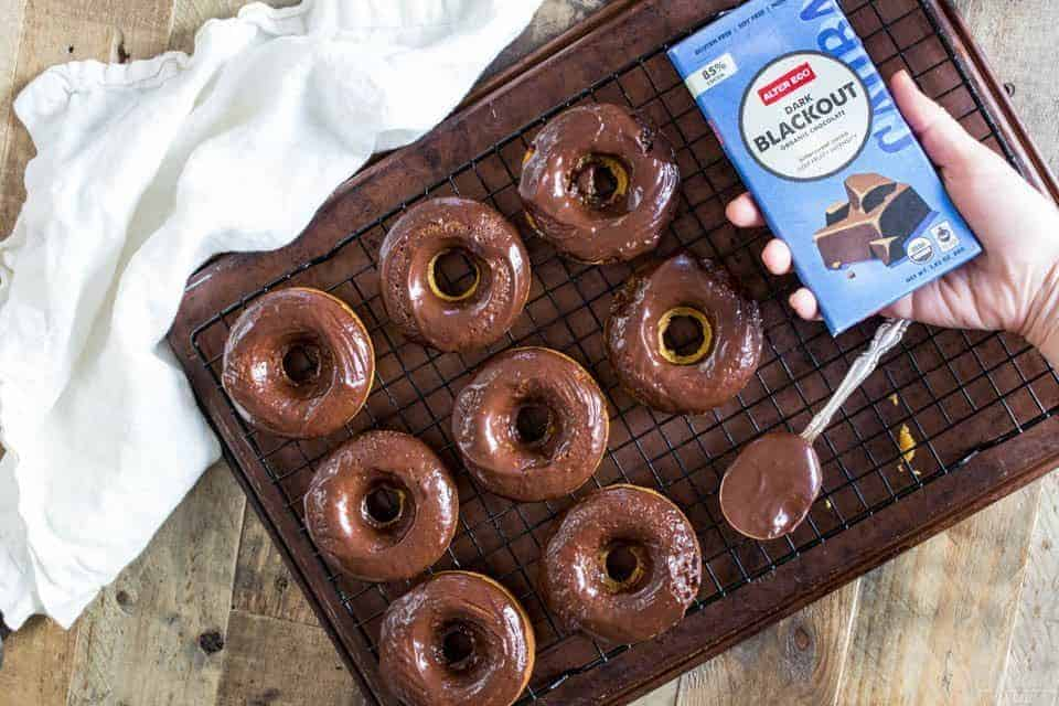 These chocolate espresso donuts are the perfect treat to end or start your day. They pair perfectly with a tall glass of milk! (Gluten free, paleo)