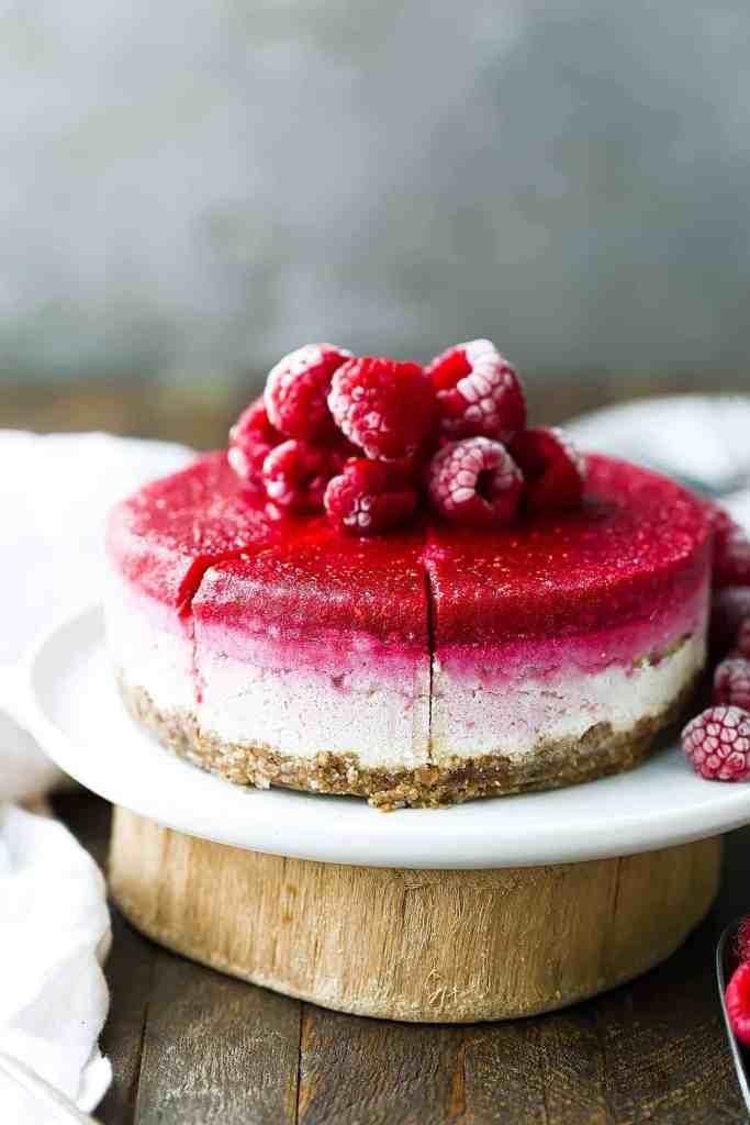 Easy Vegan Raspberry Cheesecake