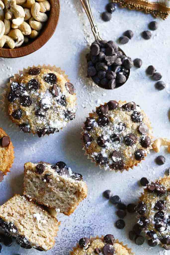 Paleo Vegan Chocolate Chip Muffins