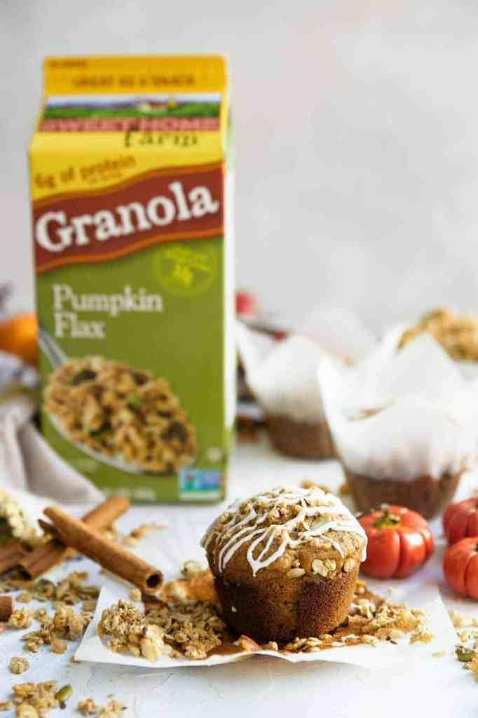 The most delicious pumpkin granola muffins recipe