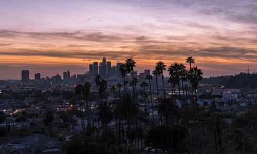 LA in dusk