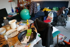 room with clutter