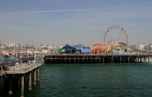 Santa Monica Pier is one of the oldest LA attractions.