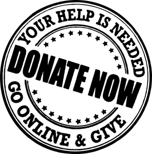 a logo promoting giving donations