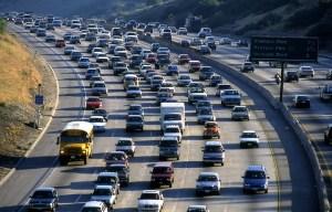 LA traffic jam.