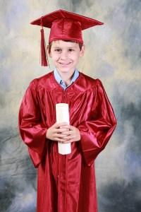 Graduated.