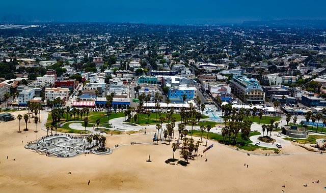 A view of the Venice Beach you can visit when living in LA.