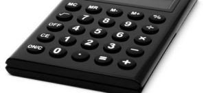 A black calculator you can use to set the costs when buying your first home in Pasadena.