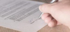 A person signing the contract.