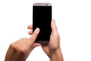 A person using a smartphone.