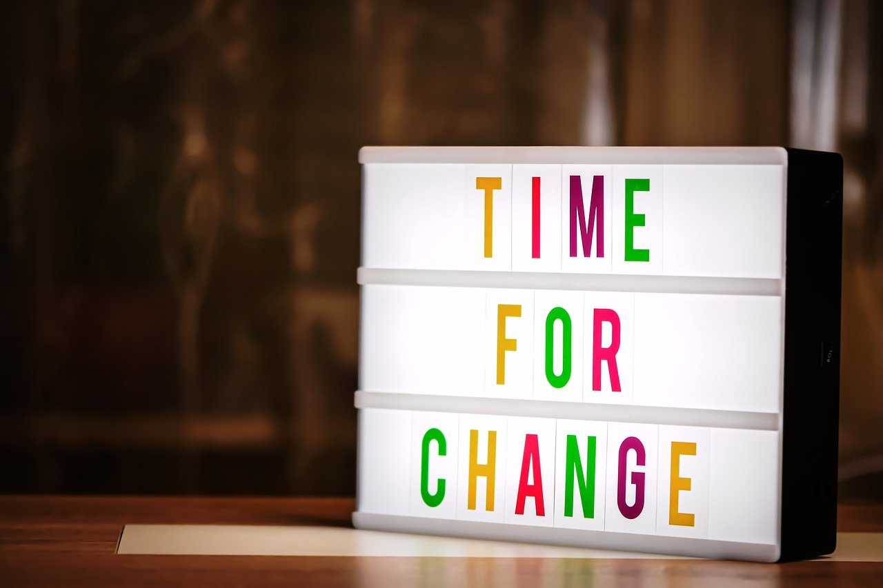 Time for change sign.