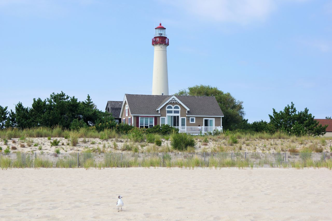 Lighthouse and beach
