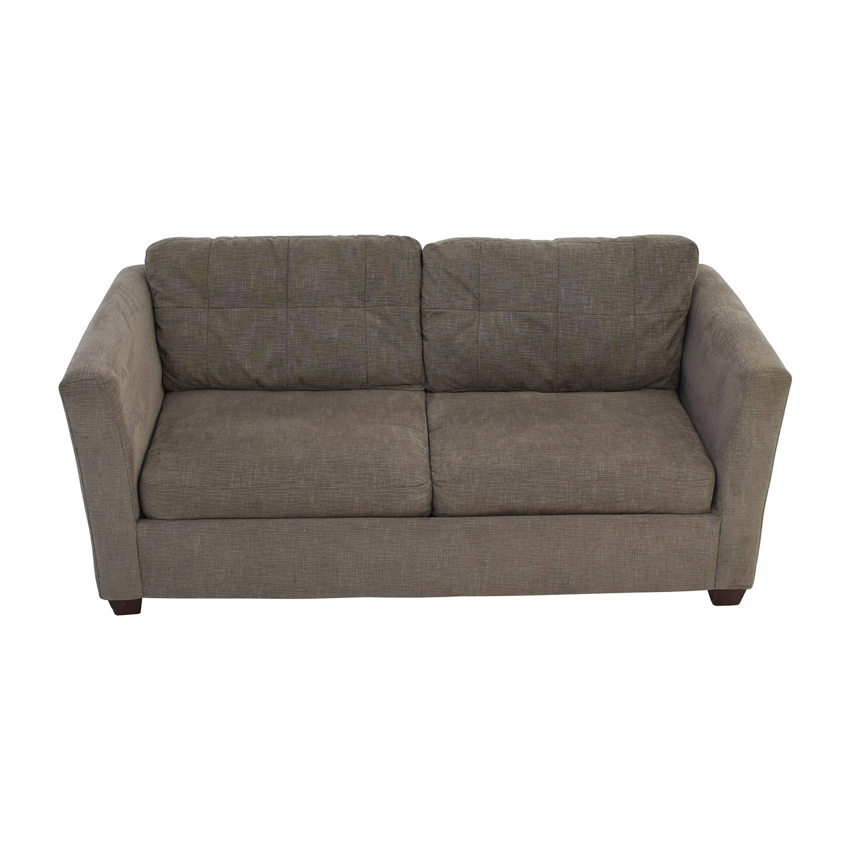grey leather queen sleeper sofa wooden set online india bauhaus 58 off