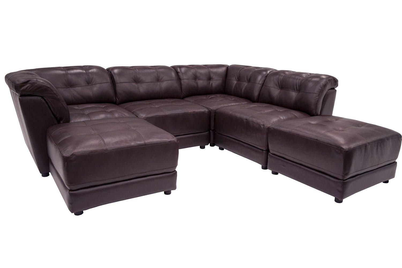 6 Piece Modular Sectional Sofa Roxanne Fabric 6 Piece