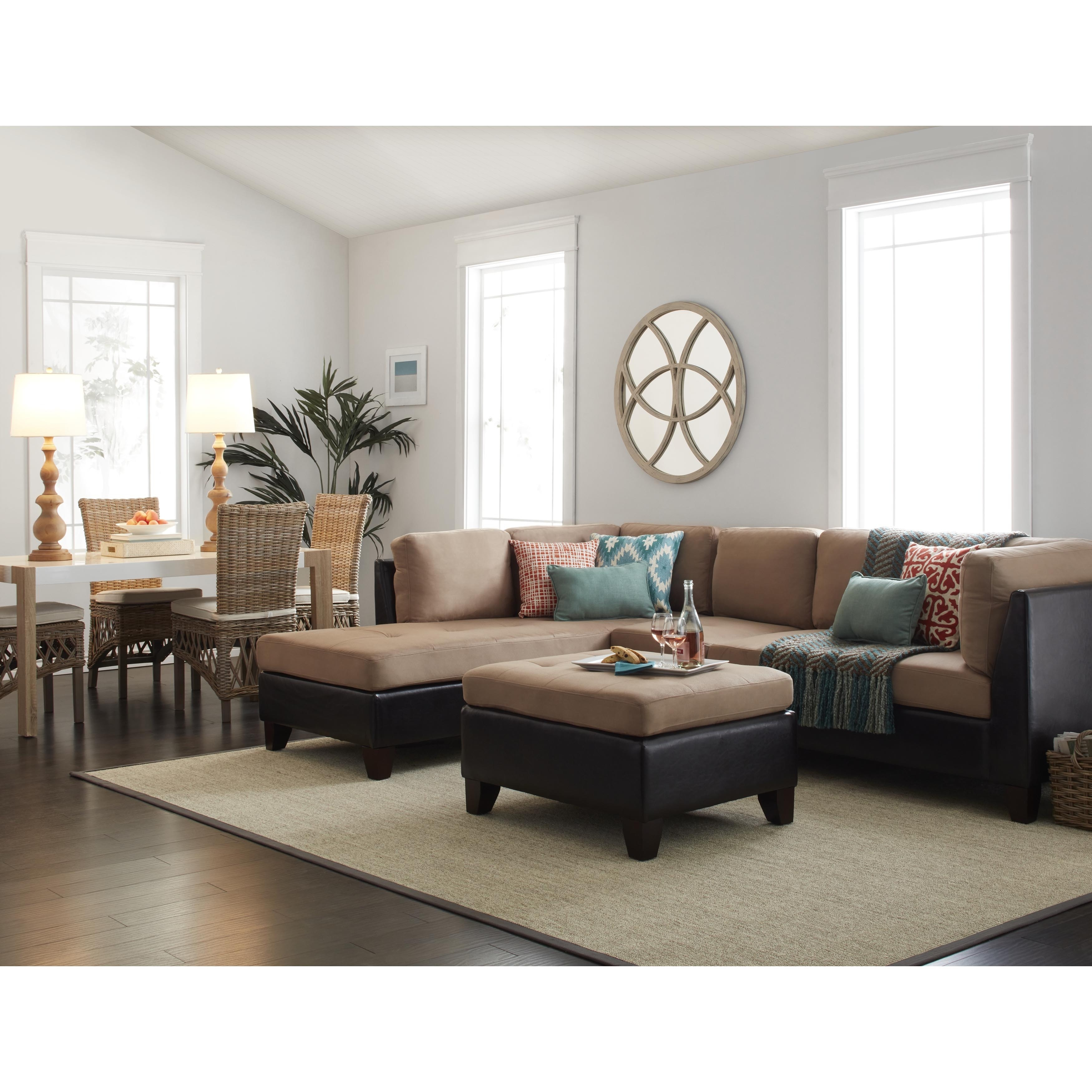 well full leather beige sofa set ottoman sunroom furniture 12 collection of abbyson living charlotte sectional