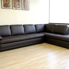 Brown Leather Sectional Sofa With Chaise Nevada 3 Seater Black 12 Photo Of Diana Dark Set