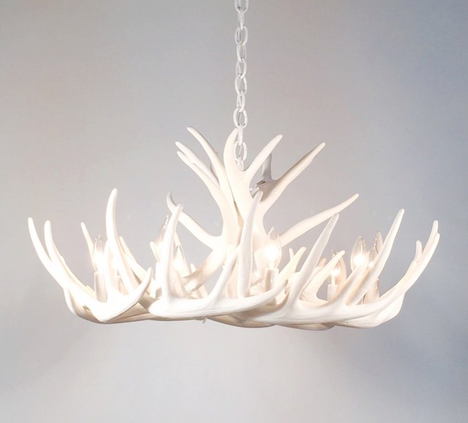 Antler Chandelier Etsy Pertaining To Stag Horn 1 Of 12