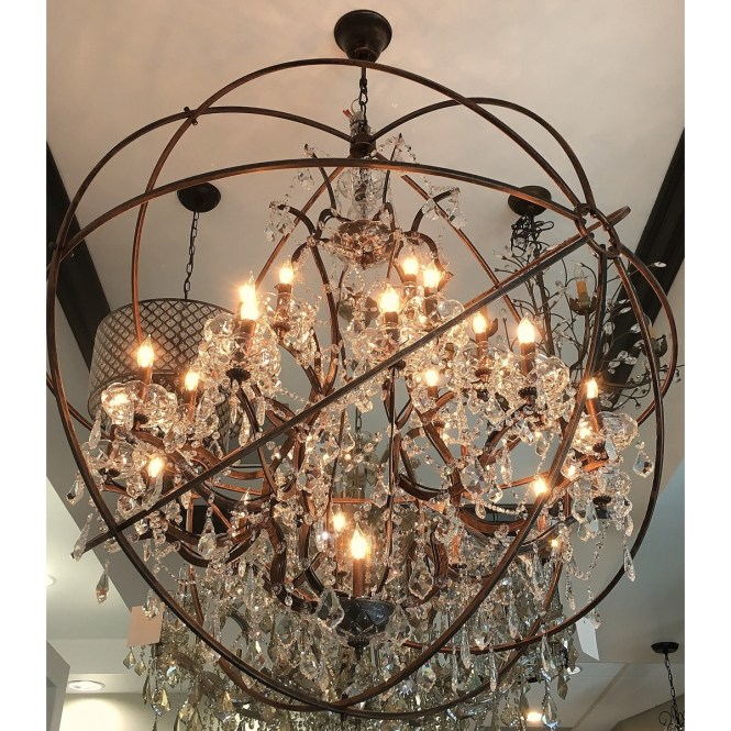 Aspasia Of Athens Ii 25 Lights Solaris Crystals Oversized Inside Chandeliers 1