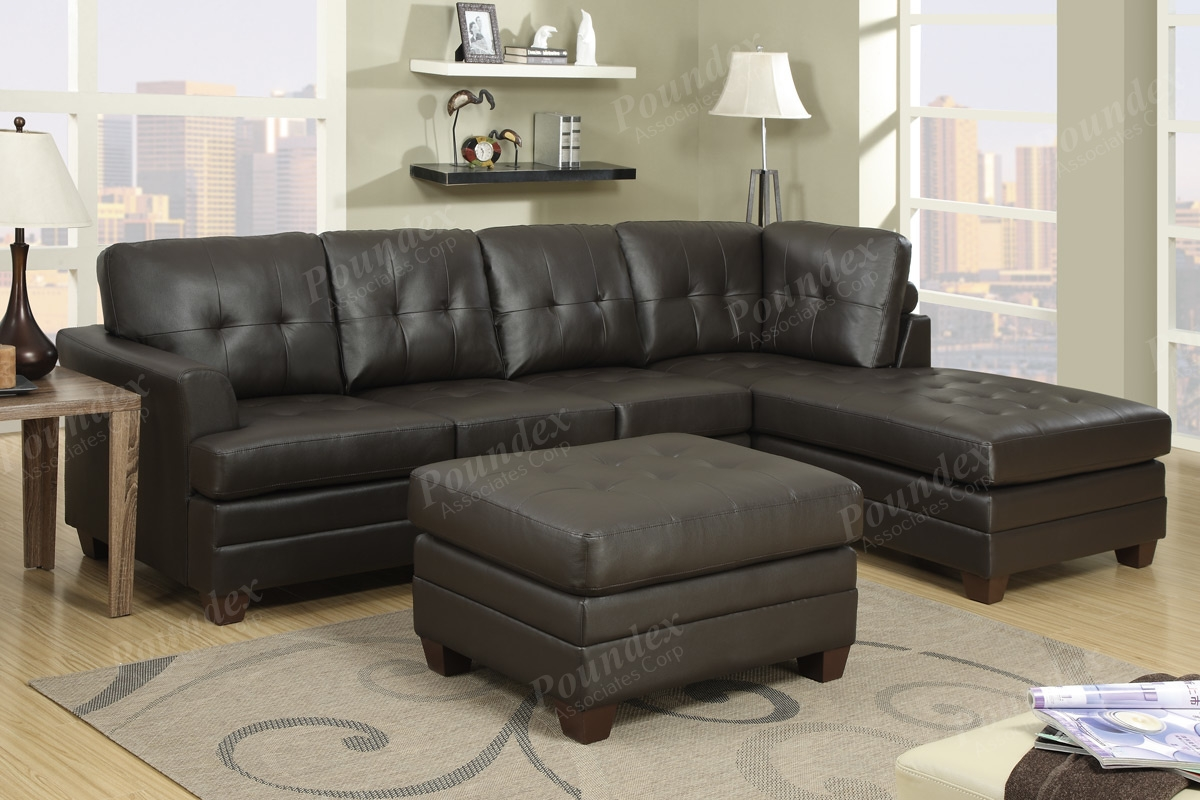 Dark Brown Leather Furniture 9854 Bentleys Sofa Set In Rich Brown