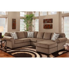 Chenille Sectional Sofas With Chaise Big Sofa Greige 12 Collection Of