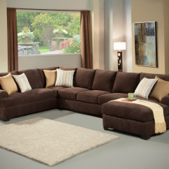 Corey Chocolate Brown Sectional Sofa Flexsteel Digby Reviews 12 Photo Of