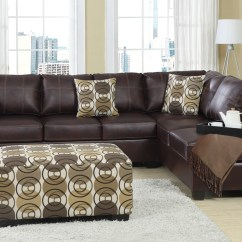 Baxton Studio Dobson Leather Modern Sectional Sofa Navy Blue Chesterfield 12 Best Ideas Of