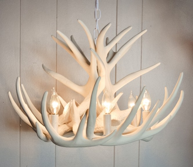 Lamp Deer Horn Chandelier With Authentic Look For Your Lighting Throughout Stag