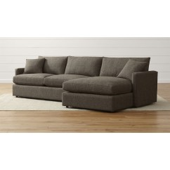 Crate And Barrel Lounge Sleeper Sofa Best Corner Uk Awesome Reston 2 Piece Sectional Sofas