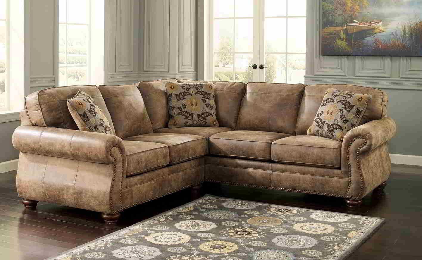 12 Photo Of Diana Dark Brown Leather Sectional Sofa Set