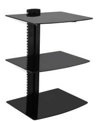 15 Ideas of Wall Mounted Black Glass Shelves