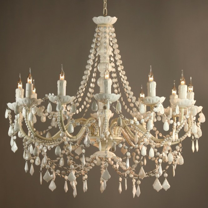 Antique White Chandelier With Vintage French Chandeliers 3 Of 12 Ideas