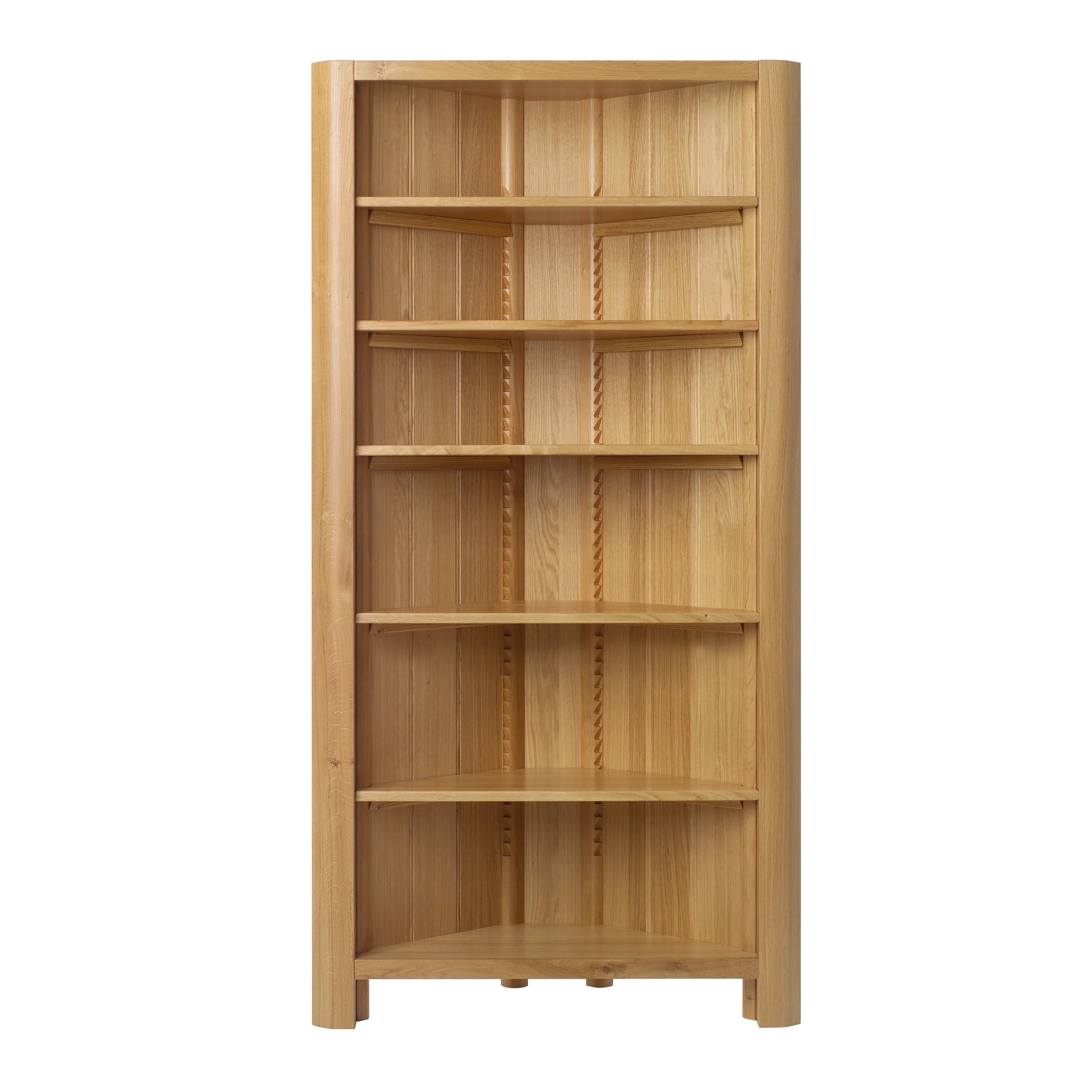 Tall White Corner Bookshelf