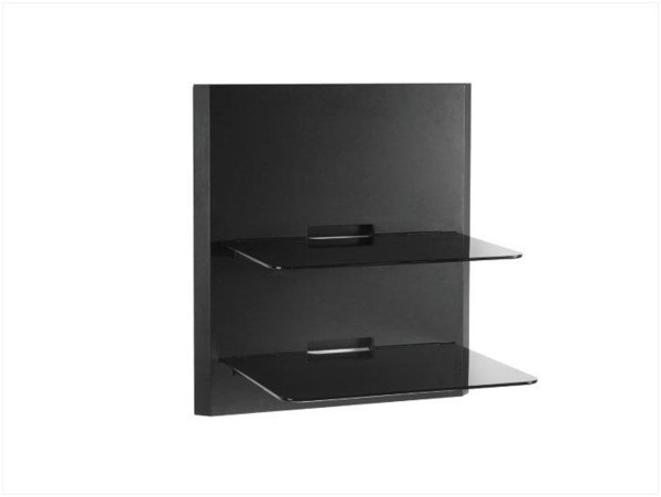 Black Wall Mounted Glass Shelves