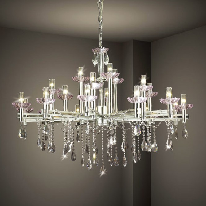 Chandelier Inspiring White Modern And Crystal With Regard To